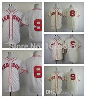 Wholesale 2015 New Boston Red Sox Throwback Jerseys Ted Williams Carl Yastrzemski Rico Petrocelli Baseball Jerseys Cool Base Stitched Jerseys