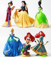 baby jasmine doll - Princess pvc figure doll Cinderella Snow White Mermaid Rapunzel Ariel Jasmine Belle baby princess toy