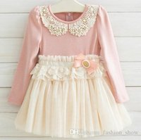 Cheap girls Korean Pearl dresses Best girl rabbit princess dress