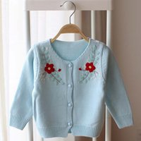 hand knit baby sweater - Girls Tops Crochet Cardigan Children Clothes Kids Clothing Autumn Knitted Sweaters Girl Dress Flower Sweater Coat Baby Cardigan C12053