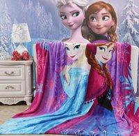 Wholesale 150 Purple Frozen Blanket Children s Super Soft Quality Bedding Quilt Blankets Warm Comfortable texile