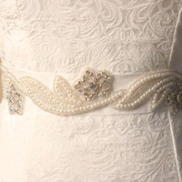 Wholesale Discount Crystal Pearl Bridal Sashes Beaded Shinnig Cheap Wedding Accessories In Stock Fashion Belts Christmas Gifts