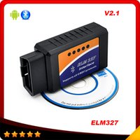 Wholesale elm327 bluetooth ELM Interface OBD2 OBD II Auto Car Diagnostic Scanner OBDII Android
