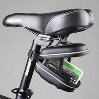 Wholesale 2014 New Roswheel Waterproof Cycling Mountain Road MTB Bicycle Bike Saddle Seat Rear EVA Bag Quick Release Bag Black order lt no track