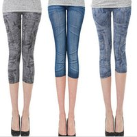 color jeans - 2015 hot color summer women lady thin cowboy elastic jeans pencil pants stretch tights leggings minutes pantyhose pants TOPB2847