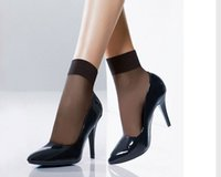 ankle socks with heels - Lady silk ankle socks for high heel shoes with packaging women sock Christmas days gift good quality new