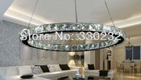 Wholesale Modern lamp dia70cm Single head round crystal LED chandelier also for