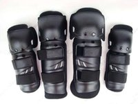 Wholesale New Bike Motorcycle Motocross Off Road Knee Elbow Guards Pads Black Adjustable