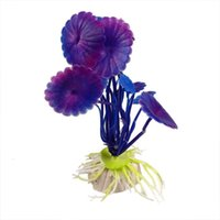 Wholesale 11cm High Beautiful Purple Artificial Plastic Water Plant for Home Fish Tank Aquarium Aquatic Decoration FISHPOND Ornament C85