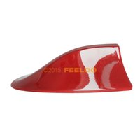 Wholesale Car Red Waterproof Universal Shark Fin Roof Decorative Antenna With FM AM Radio Function gurantee quality