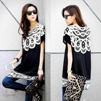 Wholesale Maternity Fashion Women s Casual Black Polyester Short Batwing Long Blouse Hot