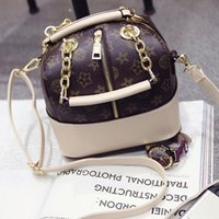 Wholesale new tide thick chain bucket Bag Satchel Tote bag printing fashion zipper bag
