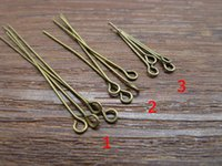 antique guage - 22mm mm MM Eye Head Pin Iron Antique Bronze color mm guage Diy jewelry Findings Bead making