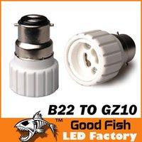 1000pcs al por mayor B22 a GZ10 retardante de llama convertidor de PBT / PC GZ10 B22 soporte de la lámpara lámparas tradicionales de ingeniería y linternas
