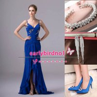 earrings fashion earrings - 2015 New Fashion Bridesmaid Dresses With Spaghetti bling beading ruched Evening Dresses BZP0061 get one bracelet earrings shoes for free