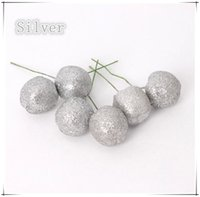 hanging balls - 100PCS Bags Christmas Tree Decoration Ball Hanging Tree Plastic Apple Christmas Tree Supplies cm
