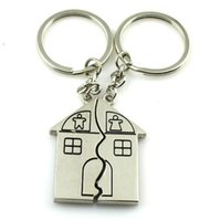 anchor housing - New Fashion Romantic Couple House Keychain Personalized Souvenirs Pendant Keyrings Valentine s day jewelry