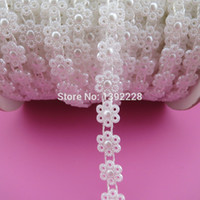 beads for clothing - mm yds roll New Bridal Dress Beaded Lace Trim Pearl Flower Rhinestone Applique Color Flatback Sew On Bead For Clothing