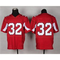 Cheap Red #32 American Football Jerseys Cheap Football Wears High Quality Football Gears Men Outdoor Sportswear Comfortable Football Uniform