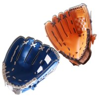 Wholesale 2016 New quot Youth Ball Glove Kid Baseball Glove Blue Brown g Banded Soft Foam Gloves the best Gift for children E430J