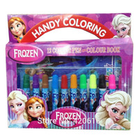 Wholesale frozen children cartoon set school paint drawing copic marker pen