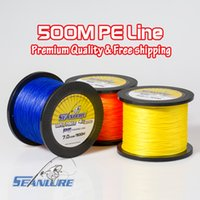 Wholesale 500M Brand Seanlure PE Braided Fishing Line Super Power Stands LB braided line