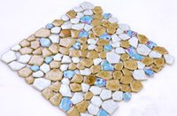Wholesale GM02 Ceramic mosaic gravel irregular bathroom floor tiles