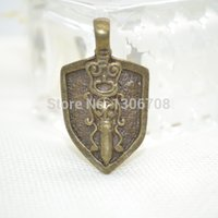 Wholesale charm antique metal bronze alloy pendants shield fit Necklaces bracelets jewelry making Z42374