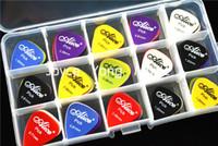 alice guitar picks - 100pcs Alice Smooth Nylon Acoustic Electric Guitar Picks Plectrums Large Plastic Picks Holder Case Box