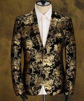 Wholesale Fashion Men s coats Men s Blazers gold blazer for men suit high quality brands men s velor Married suit plus blazer slim man size M XXXL