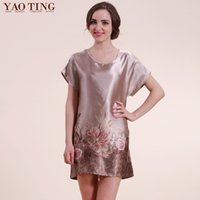 acrylic characteristics - Yao ting summer multi national wind pattern characteristic of low loose silk pajamas nightgown home