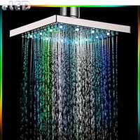 Wholesale Magic Rainbowl led Shower Head color Temperature Sensitive Color Change LED Hand Shower7color Colorful led showerhead