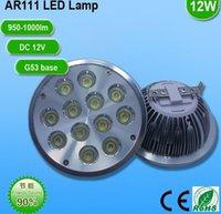 12 * G53 de lumière LED AR111 1W 45mil puce BridgeLux lampe spot 12V 12W 1200-1350Lm ES111 remplace 120W halogène QR111 MILLIARDS-LAMP
