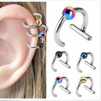 Wholesale 60PCS Fashion Stainless steel Earring Ear Stud Ear Cuff Body Jewelry