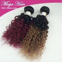 Cheap Brazilian Hair Ombre Hair Weave Best Curly red/ombre Brazilian virgin hair Ombre Hair