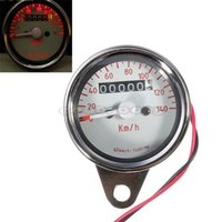 Wholesale High Quality New universal LED Backlight Signal Light Motorcycle Dual Odometer Speedometer Speed meter Gauge Tachometer