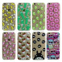 banana phone cover - Luxury Soft TPU D Cute Cartoon Eyes Move Mouse Cat French fries banana Popcorn Phone Case For iphone s Plus Cover Back