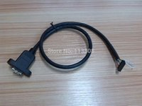 Wholesale 500pcs v Ethernet D HDMI female to pin pin female Cable cm m with screw Panel Mount holes By Fedex