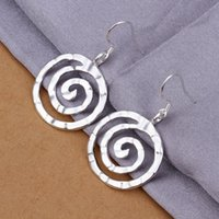 Wholesale Sterling Silver Jewelry Sterling Silver Knuckle thread Pendant Earrings Silver Plated Earring E353