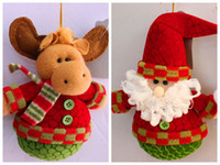 bell christmas ornament - The Christmas tree decorations hang gift The bell claus Christmas products Christmas decorations Styles