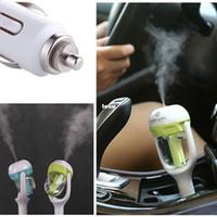 Wholesale 12V Mini Car Steam Humidifier Air Purifier Aroma Aromatherapy Essential Oil Diffuser Mist Maker Mini Fogger