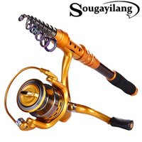 Wholesale Fishing Rod Combo Kit Carbon Fiber Telescopic Pole With Full Metal Reel Set Fishing Tackle Pesca