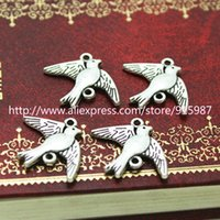 Wholesale 50pcs mm Antique Silver Bird Jewelry Connectors Jewelry Findings Fit Jewelry Making Charms