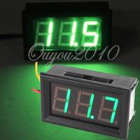 Wholesale Top Selling V To V DC Car Motor Red Green Blue LED Vehicles Dual Digital Panel Volt Meter Voltmeter