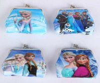 Wholesale New Princes Elsa Anna Coin Purses kids wallet money bag party supplies qbao30