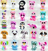 beanie boos - Ty Beanie Boos Plush Stuffed Toys Big Eye Animals Soft Dolls Plush Toys Kids Birthday Gifts