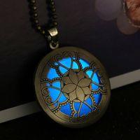 aqua fairy - Steampunk Necklace Magical Fire Fairy Glow In The Dark Necklace Aqua Large Locket Women Jewelry necklaces pendants