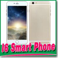 Wholesale 2015 New Goophone i6 Plus V4 Touch ID Fingerprint inch IPS HD Quad Core MTK6582 GHz GB RAM GB ROM Nano Sim Card Smartphone
