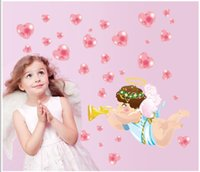 angle wallpapers - 2015 Vinyl Wall Stickers Cartoon d lovely angle Home Decor Wall Decals for Kids Rooms wallpaper For Bedroom Decor