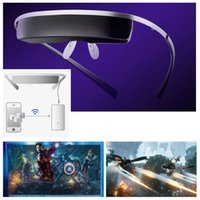 Wholesale Smart Personal Portable Folding quot D D Viewer Video Glasses Eyewear Virtual Screen x480 with VGA HDMI cable